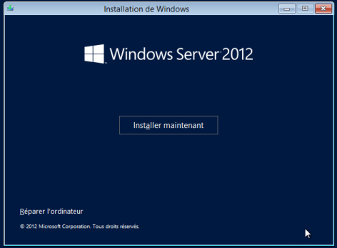 Installer Windows Server 2012