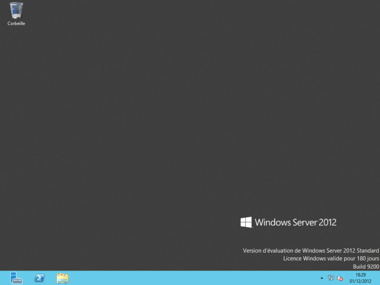 Bureau Windows Server 2012